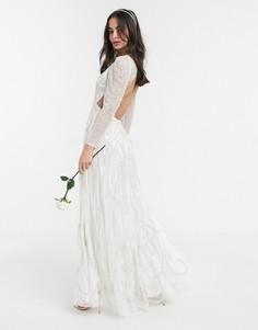 Свадебное платье макси ASOS EDITION Charlotte-Белый