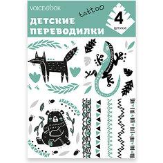 "Татуировка-переводилка ""Лиса и Ящерица"" Voice Book"