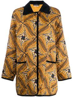 Salvatore Ferragamo Pre-Owned пальто 1980-х годов с абстрактным принтом