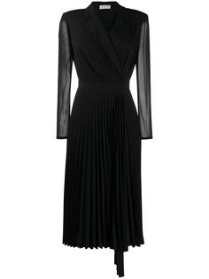 Sandro Paris платье с длинным рукавами и V-образным вырезом