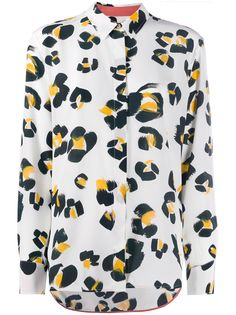 Paul Smith рубашка с леопардовым принтом