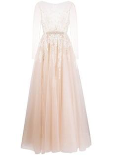 Loulou свадебное платье с прозрачными рукавами