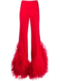 Loulou расклешенные брюки с завышенной талией и оборками
