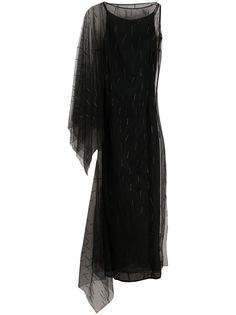 Gianfranco Ferré Pre-Owned вечернее платье 1990-х годов с вышивкой