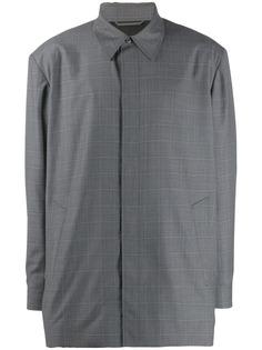 Balenciaga куртка-рубашка в клетку