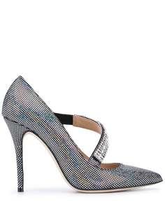 Alessandra Rich туфли-лодочки на высоком каблуке с кристаллами