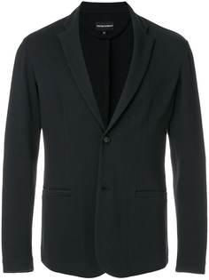 Emporio Armani фактурный трикотажный пиджак