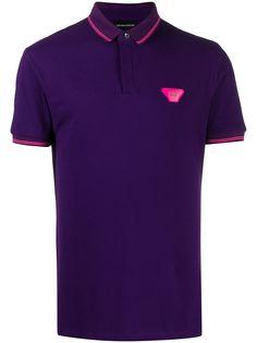 Emporio Armani рубашка поло с короткими рукавами и нашивкой-логотипом