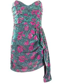 For Love And Lemons коктейльное платье с узором и пайетками