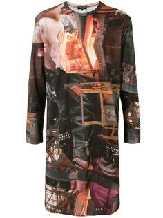 Comme Des Garçons Homme Plus длинная футболка с графичным принтом