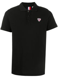 Rossignol рубашка поло с нашивкой-логотипом и короткими рукавами