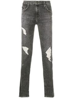 J Brand джинсы скинни с эффектом потертости
