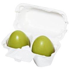 Holika Holika мыло-маска Egg Soap с зеленым чаем, 50 г, 2 шт.