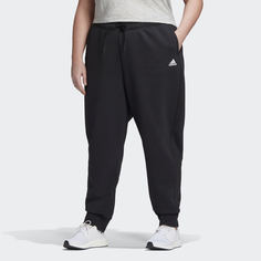 Флисовые брюки Stacked Logo (Plus Size) adidas Athletics