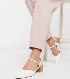 Эксклюзивные белые туфли на среднем каблуке с квадратным носом RAID-Белый