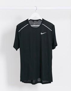 Черная футболка Nike Running Breathe Rise-Черный
