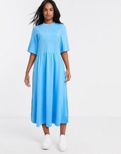 Трикотажное платьеА-силуэтаиз органическогохлопкаMonki-Синий