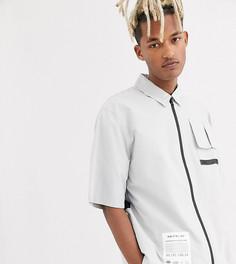 Рубашка в стиле милитари на молнии COLLUSION-Серый