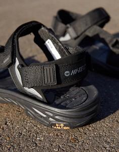 Черные походные сандалии Hi-Tec Ula Raft-Черный