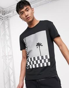 Черная футболка с фотопринтом Calvin Klein Jeans-Черный
