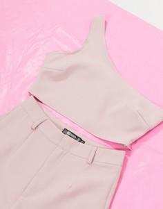 Кроп-топ на одно плечо от комплекта Missguided-Фиолетовый