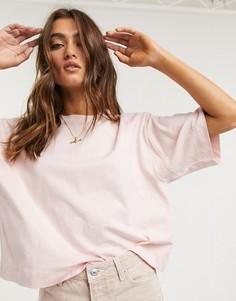 Свободная розовая футболка Topshop-Розовый