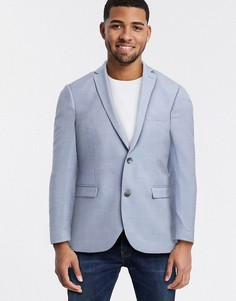Голубой приталенный пиджак Esprit-Синий