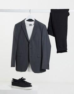 Серый приталенный пиджак Esprit