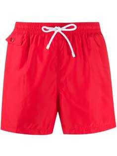 Kiton плавки-шорты прямого кроя