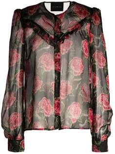 John Richmond блузка с цветочным принтом
