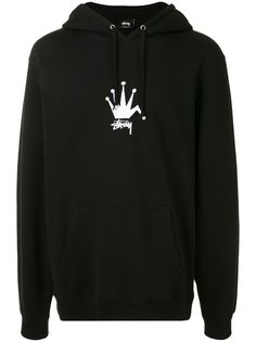 Stussy худи Old Crown с логотипом