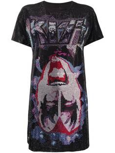 Philipp Plein платье-футболка с принтом