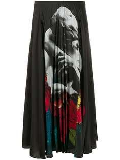 Valentino юбка с плиссировкой из коллаборации с Undercover