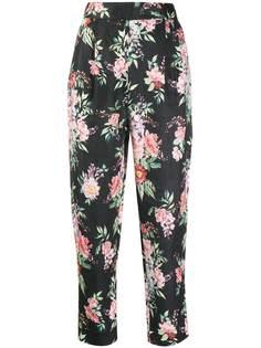 Zimmermann зауженные брюки с цветочным принтом