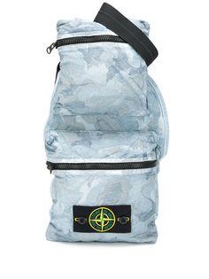 Stone Island поясная сумка с камуфляжным принтом