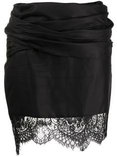 UNRAVEL PROJECT юбка асимметричного кроя с кружевом
