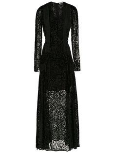 Martha Medeiros длинное бархатное платье