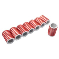 Классические бигуди Meizer Бигуди-термо супербольшие (35 мм) 8 шт. красный