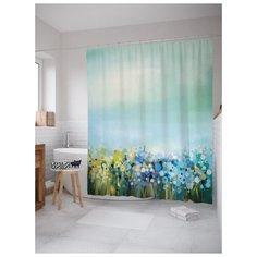 Штора для ванной JoyArty Цветочный ковер 180х200 (sc-21141) разноцветный
