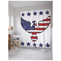 Штора для ванной JoyArty Американский герб 180х200 (sc-20685) разноцветный