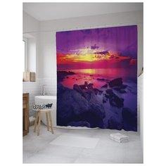 Штора для ванной JoyArty Горящее море 180х200 (sc-8916) разноцветный