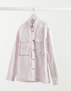 Розовая рубашка Topman-Розовый