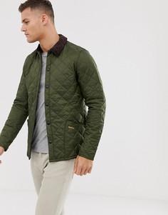 Стеганая куртка оливкового цвета Barbour-Зеленый
