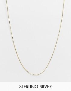 Длинное золотистое ожерелье-цепочка Astrid & Miyu-Золотой