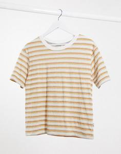 Оранжевая футболка в полоску Quiksilver-Оранжевый