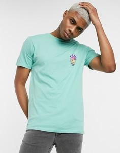 Зеленая футболка Vans SK8-Hi Forever-Зеленый