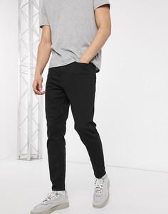 Черные суженные книзу джинсы New Look-Черный