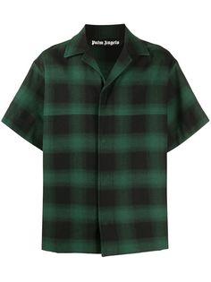 Palm Angels клетчатая рубашка с короткими рукавами