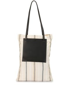 Jil Sander полосатая сумка-тоут