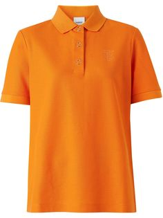 Burberry рубашка поло с монограммой